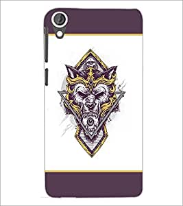 PrintDhaba Logo Wolf D-1437 Back Case Cover for HTC DESIRE 820 (Multi-Coloured)