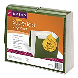 SMD70768 - Smead 70768 Green SuperTab Expanding File