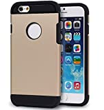 JCase For Iphone 6 Case Slim Armor Touch Heavy Duty Shockproof Champagne Gold iPhone 6S (4.7-Inch) JPC-I6A10GL Jay's Products
