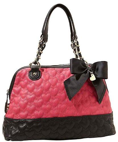 Betsey Johnson Handbag WILL YOU BE MINE SATCHEL Pink