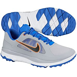 Nike Mens Golf FI Impact Golf Shoes 10 US Medium Wolf Grey/Black/Cobalt