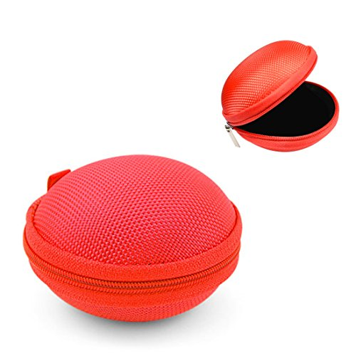Nylon Travel And Storage Case For Earbuds And Charger Assembly (Red)