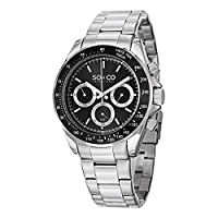 SO&CO York Men's 5010B.1 Monticello Analog Display Quartz Silver Watch by SO&CO MFG