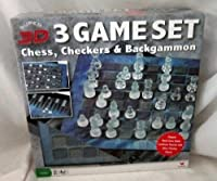 3D Chess, Checkers & Backgammon Game Set