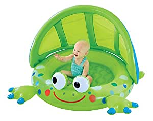 Frog baby shade pool toys games for Elc paddling pool