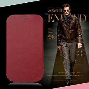 Mulbess Samsung Galaxy Grand Duos (GT-i9082) England Style Flip Ultra-thin Ultra Slim Case Braun Tasche Smart Cover Lederhülle Schutzhülle,Braun