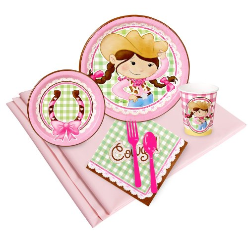 Pink Cowgirl Party Supplies - Party Pack for 8