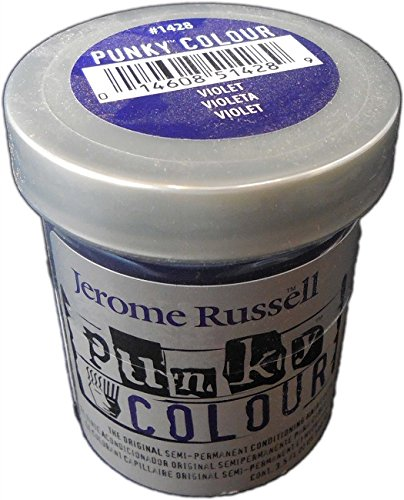 jerome russell Punky Hair Color Creme, Violet, 3.5 Ounce (Punky Color Purple Hair Dye compare prices)