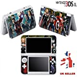 AVENGERS IRON MAN THOR Vinyl Skin Sticker For Nintendo 3DS XL Console Vinyl Skin Cover In A Retail Pack. Ready For Fast 1st Class UK Post.