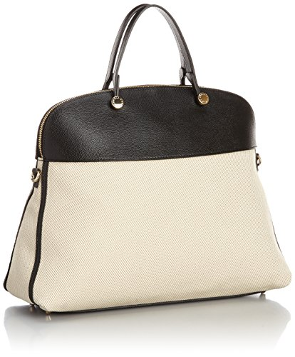 Furla Piper Large Dome Top Handle Bag, Naturale/Onyx, One Size