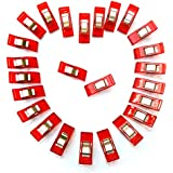 Wonder Clips, Sewing and Beading, Paper Clips, Binder Clips, Multi-purpose Clips, Clips for Sewing, Quilting, Beading, Crocheting, Knitting & General Purpose, 50 Pack, Red