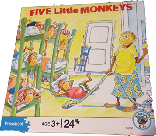 University Games Five Little Monkeys Cleaning Jigsaw Puzzle