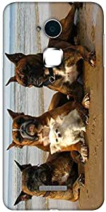 Snoogg Dog'S Make Friends Designer Protective Back Case Cover For Coolpad Note 3 (White, 16GB)