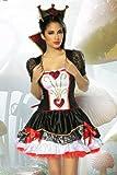 Karneval Mottoparty Alice im Wunderland-Kostüm Kleid 3-tlg Gr XS-M, Größe Atixo:XS-M