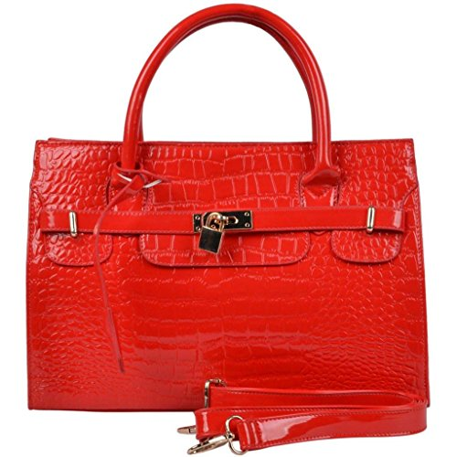 Summer Classic Women Shoulder Messenger Bag Faux Leather Lady Handbag Tote Purse-Red