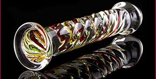 美しい7色に輝くガラスプラグ全長175mm 最大径:35mm