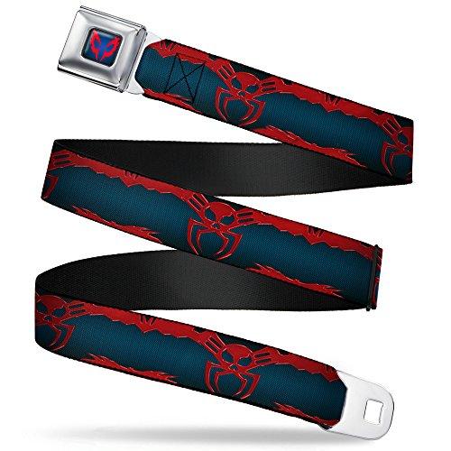 Spider-Man 2099 Suit Logo 2099 Navy/Red Webbing - Seatbelt Belt X-Large