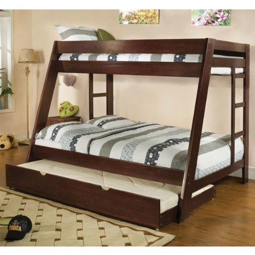White Bunk Bed Twin Over Full 270 front