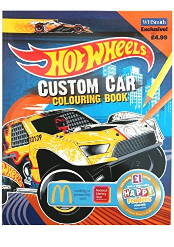 Custom Car Colouring Book Extra (Hot Wheels)