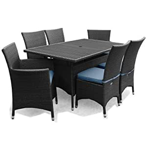 Appledore Rattan Garden Patio Furniture 6 Seater