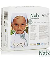 Naty by Nature Babycare Size 4 ECO Nappies - 4 x Packs of 27 (108 Nappies)