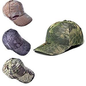 Culater®Camo Cap Adjustable Military Hunting Fishing Army Hiking Baseball Hat