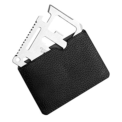 11 in 1 Multifunction Survival Pocket Tool - Credit Card Size, Comes With Protective Pouch from GPCT