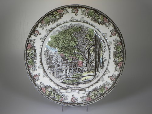 JOHNSON BROS. FRIENDLY VILLAGE COLLECTOR PLATE 2012