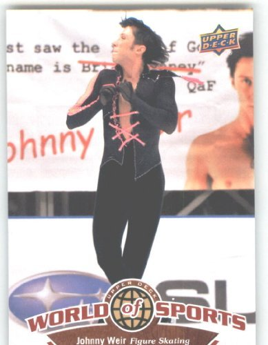 2010 Upper Deck World of Sports Trading Card # 220 Johnny Weir / Figure Skating /