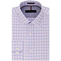 Tommy Hilfiger Men's Slim-Fit Non-Iron Check Dress Shirt (Tulip)