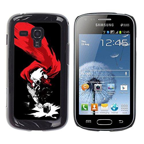 iBinBang / Custodia Rigida Protezione Case Cover - THOR & HAMMER SUPERHERO - Samsung Galaxy S Duos S7562