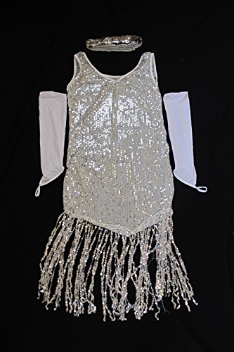 Sexy Cute Gatsby Flapper Girl Party Halloween Costume (Cute Flapper Costumes)