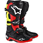 Alpinestars Tech 10 Boots - 2014 (9, Black/Red/Yellow)