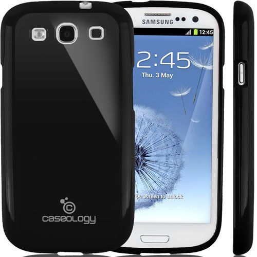 Galaxy S3 Case, Caseology [Drop Protection] Samsung Galaxy S3 Case [Black] Slim Fit Tpu Cover [Shock Absorbent] Armor Bumper Galaxy S3 Case [Made In Korea] (For Samsung Galaxy S3 Verizon, At&T Sprint, T-Mobile, Unlocked) front-685264
