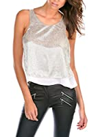 FRENCH CODE Top Tanya (Plateado)