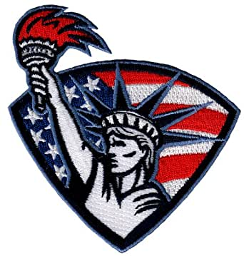amazoncom statue of liberty patch embroidered ironon