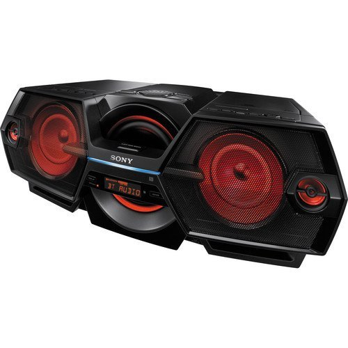 Sony Portable Mega Bass Cd Stereo Boombox Sound System With Bluetooth & NFC One-Touch Connect, CD-R/RW (MP3 And WMA) Playback, Digital FM/AM Tuner With 30 Memory Presets, Plus 6ft Superior Aux Cable to Connect Any Ipod, Iphone or MP3 Digital Audio Player, Black Finish