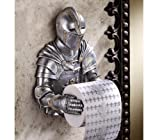 "13"" Cute Sculptural Knight Bathroom Tissue Holder - Accessory"