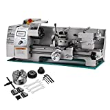 BestEquip Maintenance Free Metal Lathe Variable Spindle Speed Lathe 8x16 Inch Mini Bench Lathe 750W High Precision Lathe Machine (Color: 8 x 16 inch maintenance free)