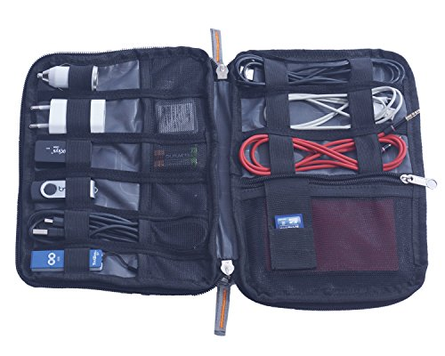 ADK Nylon Polyester Black ELECTRONICS ORGANIZER EO001