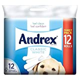 Andrex Classic White Toilet Tissue Rolls - 240 Sheets per Roll (12)