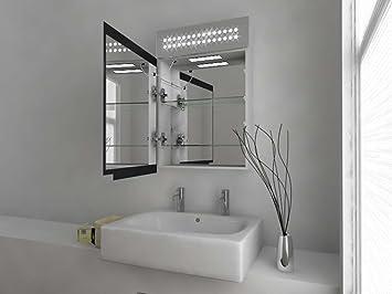 Modern mirror design armadietto bagno a specchio con sensore luci led disappannamento e presa - Armadietto bagno con specchio ...