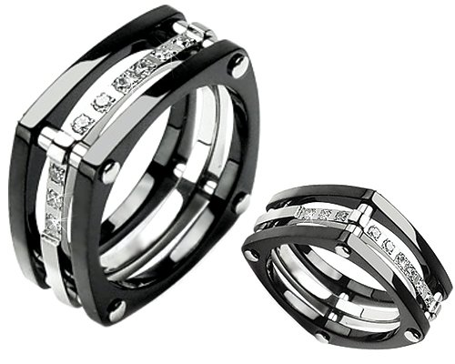 Wedding Bands: Mens Black Wedding Bands
