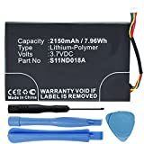 MPF Products High Capacity 2150mAh MLP305787 S11ND018A Battery Replacement Compatible with Barnes & Noble Nook Simple Touch BNRV300 BNTV350 6