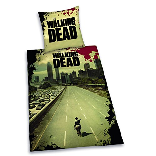 "Herding, Biancheria da letto ""The Walking Dead"", Multicolore (Mehrfarbig), 135 cm x 200 cm"