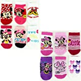 Disney Minnie Mouse Variety 6-Pack Infant & Toddler Girls Socks