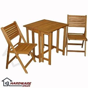 Nice Ivena International IVN Saigon Table and Char Set Patio Furniture