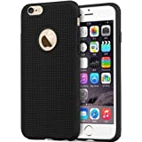 WOW Imagine(TM) Heat Dissipation Hollow Thin Soft TPU Back Case Cover For Apple Iphone 6 / 6S - Black