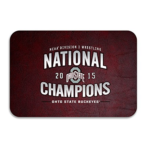PTGIK 2015 Ncaa Ohio State Buckeys National Champions Non-slip Doormat White (Ohio St National Champion 2015 compare prices)