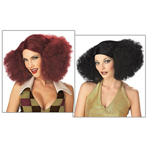 [GSG Disco Costume Wig Adult Womens 70s Halloween Fancy Dress] (Cabaret Costumes For Men)